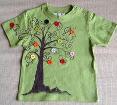 Camisetas - Árbol botones