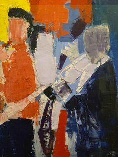 """Nicolas de Staël (1914-1955) """"Les musiciens, souvenir de Sydney Bechet"""" dét. (1953) musée national d'art moderne, Centre Pompidou (Paris, France) (by Denis Trente-Huittessan)"""