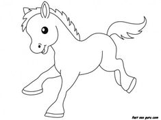 Print out Farm Pony Baby animals coloring pages - Printable Coloring Pages For Kids
