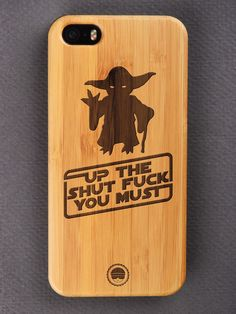 Buy Up The Shut Fuck Engraved Wooden Smartphone Case Online for Bombay Trooper, Wooden Phone Case, Smartphone, Iphone Cases, Iphone Case, I Phone Cases