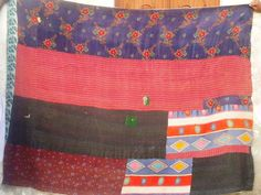 Ralli quilt that is made from used fabrics in Sindh of American Quilt, Lassi, Textile Art, 1990s, Ethnic, Patches, Fabrics, Textiles, Quilts