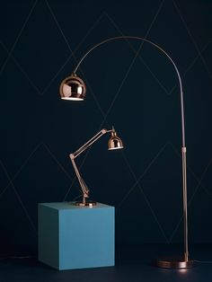 copper lighting at Heal's. Copper Lamps, Copper Decor, Copper Lighting, Home Lighting, Interior Styling, Interior Design, Lights Fantastic, Modern Lighting Design, Shades Of Gold