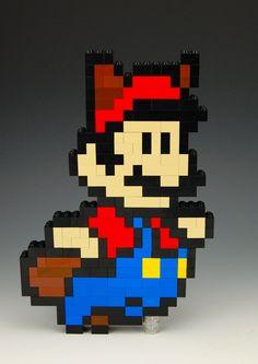 Lego Mario Raccoon Power Up by BrickBum