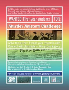 Murder Mystery Challenge promotional poster