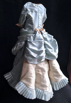 Antique reproduction lined silk Fashion by DollCoutureBoutique. On Etsy.