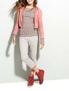 Cute ensemble! Sport it after your soccer match.