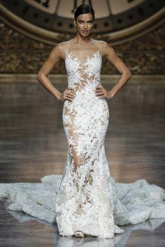 Sultry Pronovias gown: http://www.stylemepretty.com/2015/05/20/pronovias-barcelona-spring-2016-2/