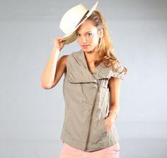 CRAZY SUMMER SALE/ vest / sleeveless  jacket / by girlishstyle, $139.00