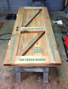 How to build a barn door. This one mixes a combo of new and old wood for a door full of character.