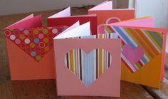 Românticos cartões de papel