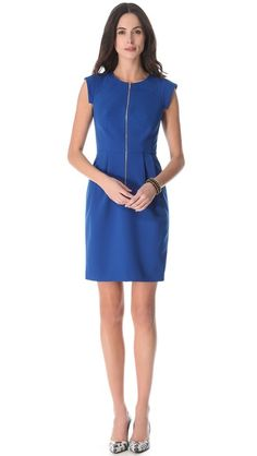 Rebecca Taylor Crepe Zip Front Dress, from Shopbop - simple dress is perfect for work