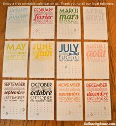 2012 Printable Calendar, Awesome!