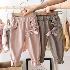New Baby Girls, Baby Kids, Toddler Outfits, Kids Outfits, Baby Outfits, Baby Girl Pants, Kids Pants, Dresses Kids Girl, Baby Sewing