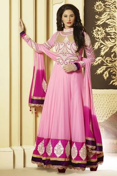 Bollywood Nargis Fakri Long Anarkali Stylish Salwar Kameez