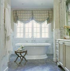 Most Popular Farm House Bathroom Window Treatments Bathtubs Ideas Bathroom Window Curtains, Bathroom Window Treatments, Bathroom Windows, Stand Alone Tub, Bad Styling, Home Decoracion, Bathroom Styling, Modern Bathroom, White Bathroom