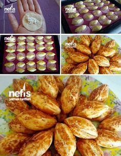 Mini Poğaça Tarifi Greek Cooking, Cooking Time, Turkish Recipes, Ethnic Recipes, European Dishes, Turkish Tea, Savory Pastry, Tea Time Snacks, Baked Goods