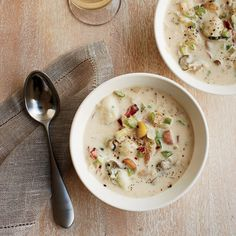 Smoky Oyster Chowder with Bacon, Rosemary and Fennel // More Fabulous Chowders: http://www.foodandwine.com/slideshows/chowder #foodandwine
