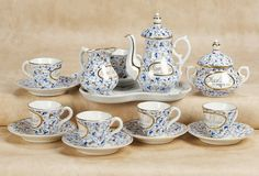 De Kleine Wereld Museum of Lier: 78 Fine German Porcelain Miniature Tea Service with Karlsbad Labelling