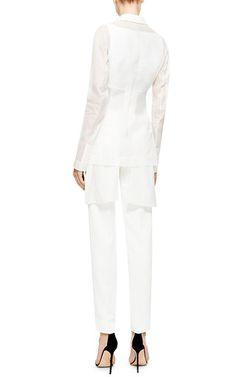 Antonio Berardi White Organza Tuxedo Jacket by Antonio Berardi | Moda Operandi