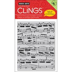 Hero Arts 'Music Background' Cling Stamps
