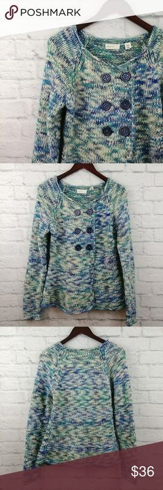 Anthro Sleeping on Snow Marled Sweater Medium Anthropologie Sleeping on Snow Marled Sweater Medium. Gently Worn, minor signs of fuzz from wash due to crochet style. Bust - 17 Length -24 112517400083 Anthropologie Sweaters