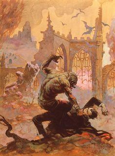 'Dracula Meets the Wolfman' by Frank Frazetta
