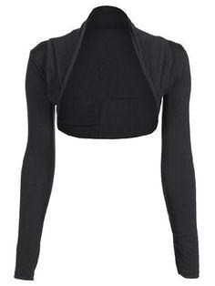 Womens Long Sleeve Plain Shrug Bolero Cropped Cardigan Top Ladies Sizes 8-16 [UK & Ireland £2.00]