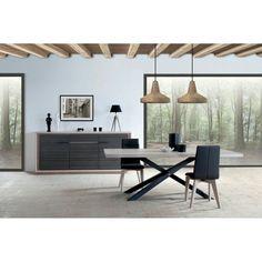 Chaises contemporaines salle manger avec table ronde for Meubles keribin