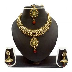 Antique / Bollywood Style Gold Plated  Maroon