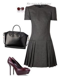 Strictly Business by lisa-eurica on Polyvore featuring moda, Alexander McQueen, Sergio Rossi and Givenchy