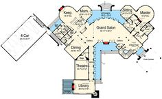 Majestic Storybook Castle - 12013JL   1st Floor Master Suite, Bonus Room, Butler Walk-in Pantry, CAD Available, Corner Lot, Courtyard, Den-Office-Library-Study, Elevator, European, In-Law Suite, Loft, Luxury, MBR Sitting Area, Media-Game-Home Theater, Multi Stairs to 2nd Floor, PDF, Photo Gallery, Premium Collection, Sloping Lot   Architectural Designs