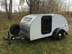 2013 Teardrop Camper Trailer 5x10 Silver Shadow Little Guy Lite Retro Mini RV