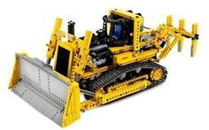 LEGO Motorized Bulldozer-- inspiration for first Lego Club on June 14th!