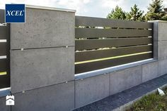 28 Ideas For Exterior Stone Wall Design Fence Compound Wall Design, Stone Wall Design, Modern Fence Design, Boundary Walls, Concrete Fence, Concrete Walls, Concrete Design, Building A Fence, Container House Design
