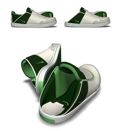 Nike shoe with a collapsable heel