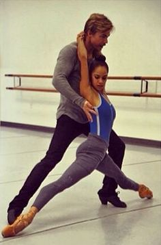Misty Copeland and Derek Hough