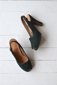Engaldine platforms 1940s platforms heels vintage by DearGolden