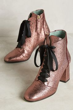 Paola d'Arcano Caldoza Lace-Up Ankle Boots