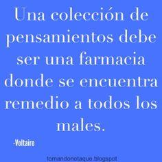 #Frases Célebres: #citas de #pensamientos -Voltaire