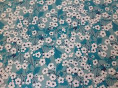 Coton liberty of London Mitsi coloris menthe à l'eau édition limitée thermocollant pour appliqués : Tissus pour Loisirs créatifs par mamzelle-s-applique