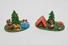Camping Miniature Figurines YOUR CHOICE 90s Miniatures | Etsy