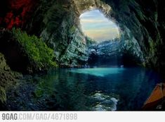 Just Melissani Cave in Kefallonia,Greece