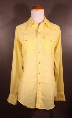 Vintage made-in-USA Rockmount western shirt, men's size S, available at our eBay store! $25