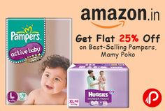Amazon is offering Flat 25% off on #BestSelling #Pampers, #MamyPoko, #Huggies, # #Libero, Pampers Premium Care,  PG #Diapering & #Nappy Changing and Potty Training & Step Stools.   http://www.paisebachaoindia.com/get-flat-25-off-on-best-selling-pampers-mamy-poko-amazon/