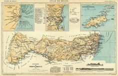 Pernambuco - vintage map