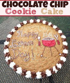 Everyday Living At Home: Chocolate Chip Cookie Cake Cupcake Recipes, Cookie Recipes, Cupcake Cakes, Dessert Recipes, Cookie Ideas, Dessert Ideas, Yummy Treats, Delicious Desserts, Sweet Treats