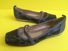 gray black Poetic Licence Ballet Flats Animal Desert Star Shoes 8.5  #PoeticLicence #BalletFlats #Casual