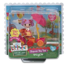 Lalaloopsy Mini Peanut Big Top Tricycle Brand New in Box ~ HTF Wheels Spin!  #DollswithClothingAccessories