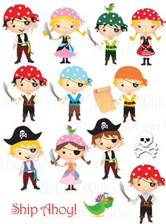 ULTIMATE pirata PACK - 51 pezzo clip digitale arte valore pack, in alta risoluzione, file Png arte digitale. Summer Crafts, Diy Crafts For Kids, Art For Kids, Pirate Birthday, Pirate Theme, Disney Scrapbook, Scrapbook Kit, Pirate Kids, Bookmarks For Books