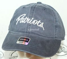 WOMEN'S ADULT CAP HAT W/ GEMS - NFL NEW ENGLAND PATRIOTS FOOTBALL REEBOK APPAREL #Reebok #DistressedLook #NewEnglandPatriots